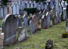 JEWISH CEMETERY. In Hermanuv Mestec, Czech republic Royalty Free Stock Photos