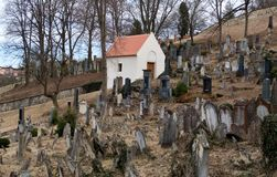 Jewish cemetery in Boskovice Stock Images