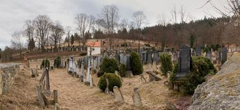 Jewish cemetery in Boskovice Royalty Free Stock Images