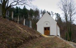 Jewish cemetery in Boskovice Stock Photos