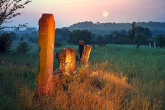 Jewish Cemetery at dawn Royalty Free Stock Photography
