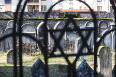 Jewish cemetery. Hermanuv Mestec, Czech Republic Stock Photos