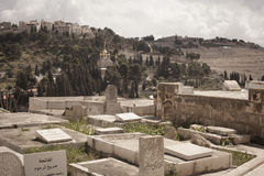 Jewish cemetery Jerusalem Stock Photography