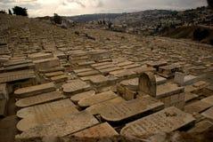Jewish cemetery, Jerusalem, Israel Stock Image