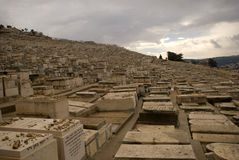 Jewish cemetery, Jerusalem, Israel Royalty Free Stock Image