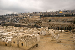 Jewish cemetery, Jerusalem, Israel Royalty Free Stock Photography