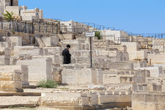 Jewish cemetery in Jerusalem, Israel. Stock Photography