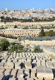 Jewish Cemetery. JERUSALEM ISRAEL 23 10 16: Jewish Cemetery on the Mount of Olives, including the Silwan necropolis is the most ancient cemetery in Jerusalem royalty free stock photos