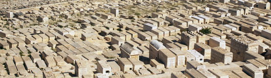 The jewish cemetery in Jerusalem Stock Photo