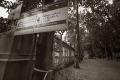Jewish cemetery in Lodz, Poland Royalty Free Stock Image