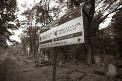 Jewish cemetery in Lodz, Poland Stock Photos