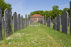 Jewish cemetery and Metaarhuis in Muiderberg Royalty Free Stock Photography