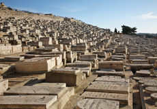 Jewish cemetery on Mount of Olives Jerusalem. Israel Royalty Free Stock Images