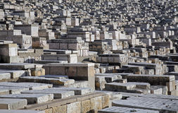 The Jewish cemetery on the Mount of Olives, in Jerusalem Royalty Free Stock Photography