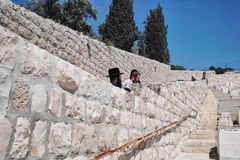 Jewish Cemetery, Mount Of Olives Stock Image