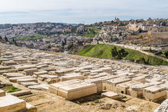 Jewish Cemetery on the Mount of Olives, Jerusalem Stock Photo