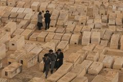The Jewish Cemetery on the Mount of Olives stock image