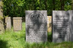 Jewish cemetery in Muiderberg Royalty Free Stock Images