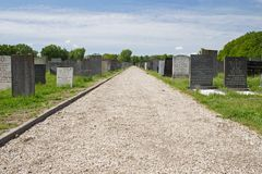Jewish cemetery in Muiderberg Royalty Free Stock Photography