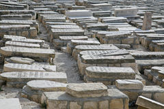 Jewish Cemetery On The Mount Of Olives, In Jerusalem Royalty Free Stock Photo