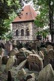 Jewish cemetery in Prague, Czech republic Royalty Free Stock Image