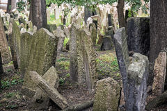 Jewish cemetery in Prague, Czech republic, memorial place Stock Images