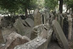 Jewish cemetery in Prague royalty free stock photography