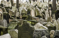 Jewish cemetery in Prague Stock Photos