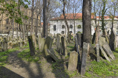 The Jewish cemetery in Prague Stock Photo