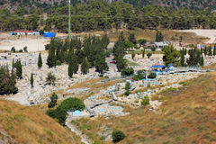 Jewish cemetery, Safed, Upper Galilee, Israel royalty free stock image
