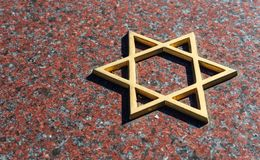 Jewish cemetery: Star of David on the tombstone. Religion concept Royalty Free Stock Images