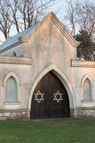 Jewish cemetery with Stars of David Royalty Free Stock Photo