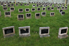 Jewish Cemetery in Terezin, Czech Republic. Royalty Free Stock Photo