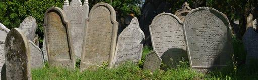 Jewish cemetery tombstone panorama Stock Photos