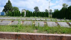 Jewish cemetery in Ukraine. Jewish graves stock footage