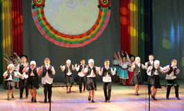 Jewish children dance are dancing Royalty Free Stock Images