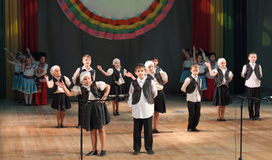 Jewish children dance are dancing Stock Photo