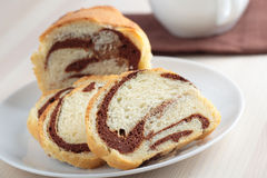 Jewish chocolate babka bread Royalty Free Stock Photo