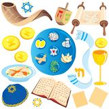 Jewish clip art icons vector illustration