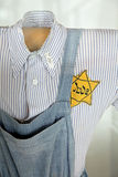 Jewish clothes from world war II Stock Photo