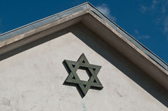 Jewish cross on building Stock Photography