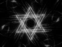 Jewish David star intensity map black and white Stock Photography