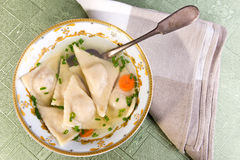 Jewish dumplings -  kreplach Stock Image