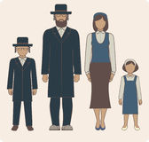 Jewish family. Traditional jewish family with two children boy and girl Stock Images