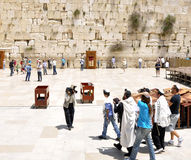 Jewish Family at Western Wall Stock Photo
