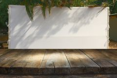 Free Jewish Festival Of Sukkot. Traditional Succah & X28;hut& X29;. Empty Wooden Old Table For Product Display And Presentation Royalty Free Stock Image - 99578236