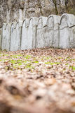 Jewish Ghetto Wall, Krakow, Poland stock photo