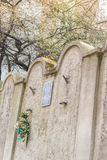 Jewish Ghetto Wall, Krakow, Poland stock photos