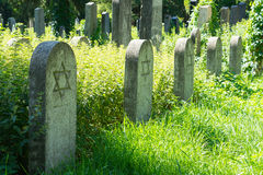 Jewish grave headstones Royalty Free Stock Images