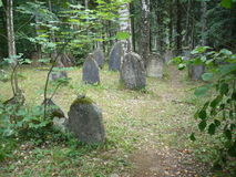 Jewish gravestones in Jewish cemetery Stock Photo